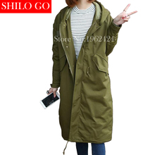 HOT 2016 Winter new fashion women high quality Korean super loose hooded thick warm army green