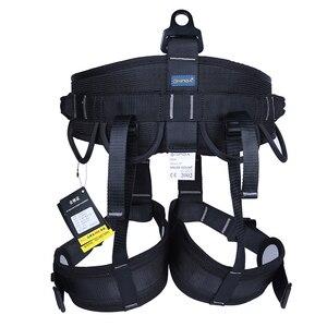 Image 2 - XINDA קמפינג חיצוני טיולים רוק טיפוס לרתום חצי גוף תמיכת מותניים בטיחות חגורת נשים גברים מדריך לרתום אווירי ציוד