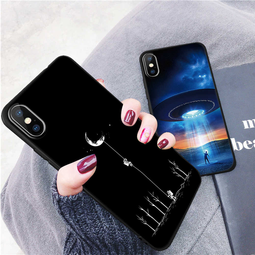 finest selection 97c3a 22b4b Cool Space Starry Sky Wish Bottle Phone Case For iPhone Xr Xs Xs Max 7 8 6  6S Plus X 10 5 5S SE Shell Matte Frosted Back Cover