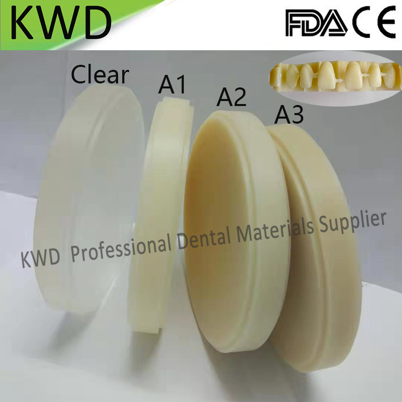 5 Pieces Lot CAD CAM System Dental Milling Dental PMMA Blank OD 98mm 14mm Color Clear