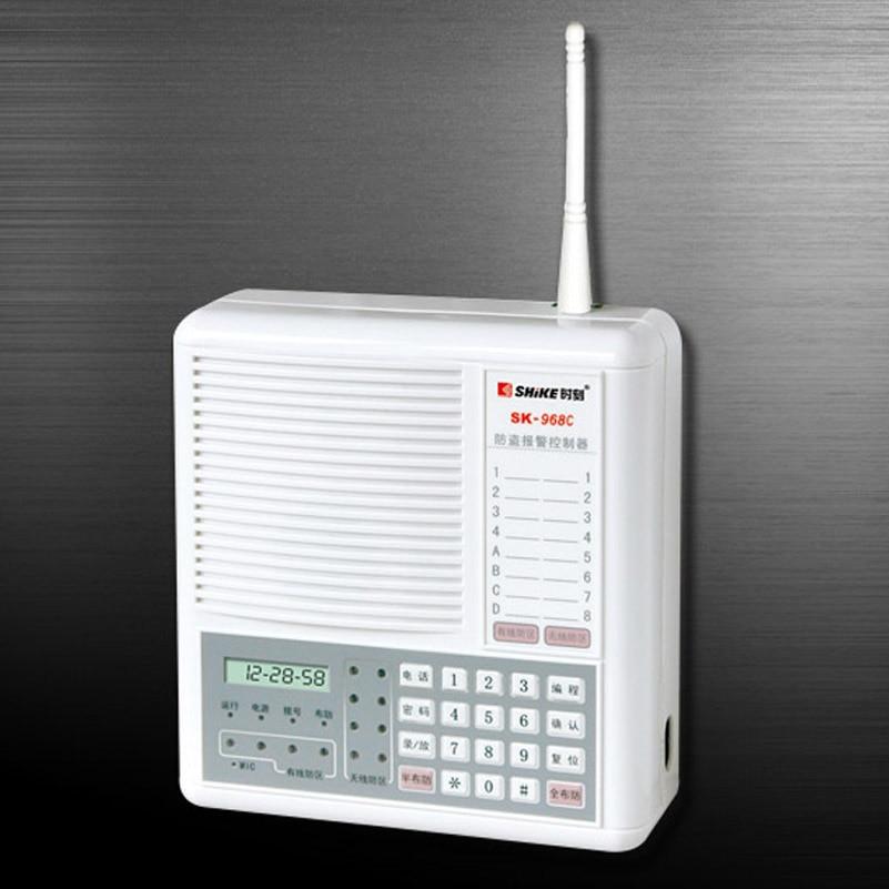 4 Wired + 8 Drahtlose Zonen Mit Mikrocomputersteuerung Diebstahl Alarm Controller