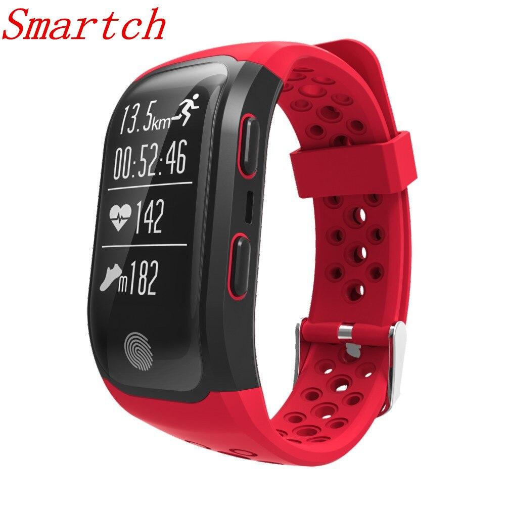 Smartch S908 GPS IP68 étanche moniteur de sommeil de fréquence cardiaque rappel sédentaire podomètre Sport bracelet intelligent pour Andro