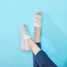 Liren 2019 Summer Fashion Lace Sneakers Women New Shoes Woman Off White Casual Size 35-40