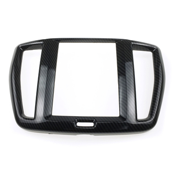 HIGH FLYING Inner Central Console Navigation Cover Decorative Trim ABS 1pcs Carbon Fiber Style For Volvo XC60 2018