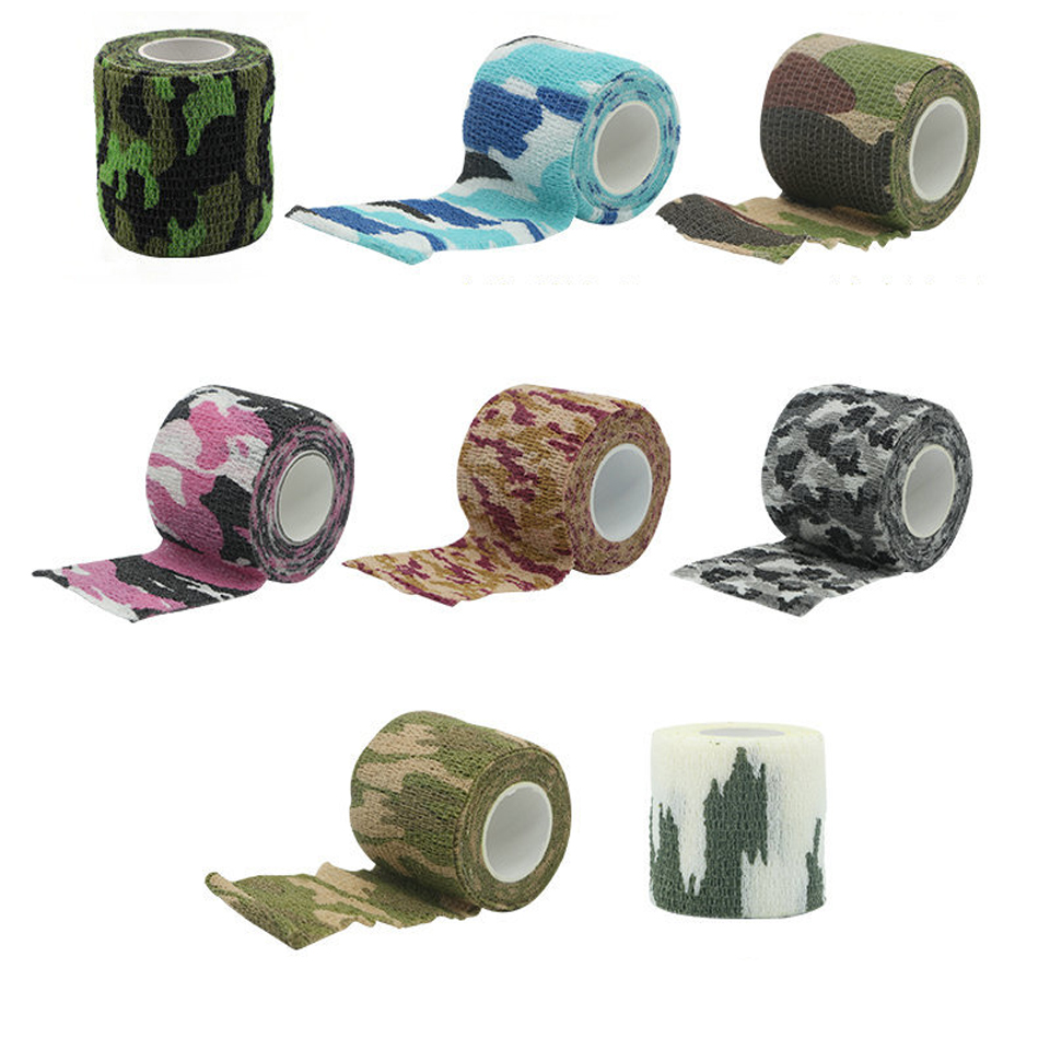 Image 3 - Travel camping Camouflage camouflage Self Adhesive Medical Bandage Gauze Tape First Aid Kit for Sport Ankle Finger Muscle Ankle-in Emergency Kits from Security & Protection