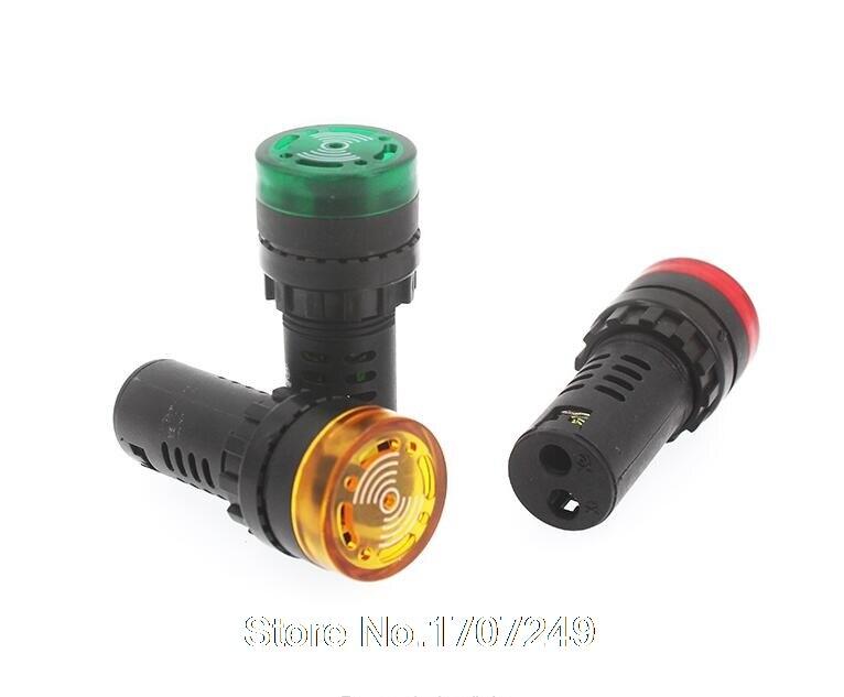 10PCS AD16-22SM Indicator light signal lamp Flash buzzer 12V 24V 220V 380V Warning light Signal speaker Alarm device