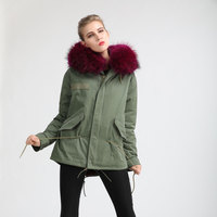 2018 Fashion Purple Mink Fur Luxury Furs Jacket Mr Mrs Short Length Casual Khaki Jacket Free Shipping