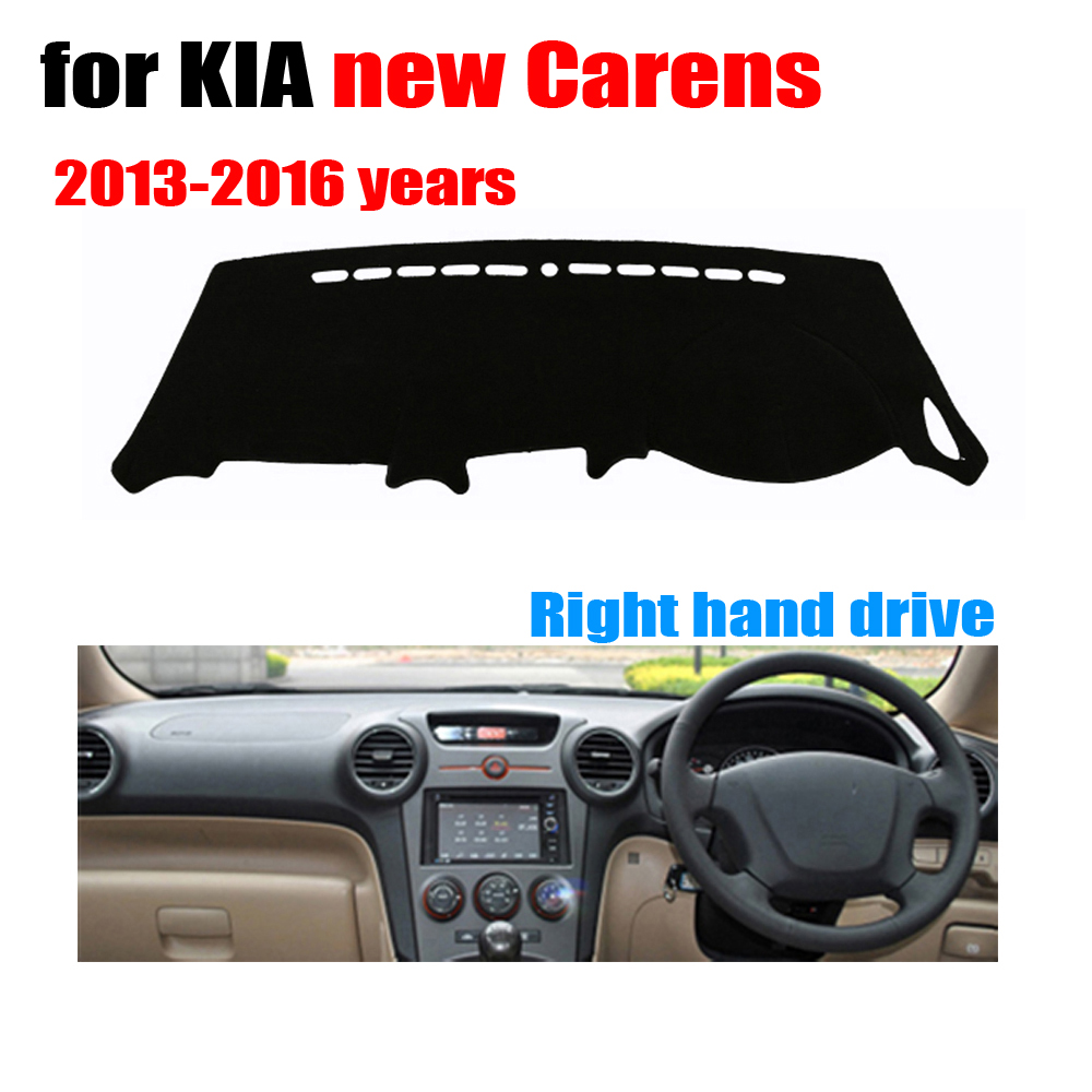 Car dashboard cover mat for KIA New Carens 2013-2016 Right hand drive dashmat pad dash covers auto dashboard accessories brand new car dashboard cover for audi tt dash cover mat right hand driver