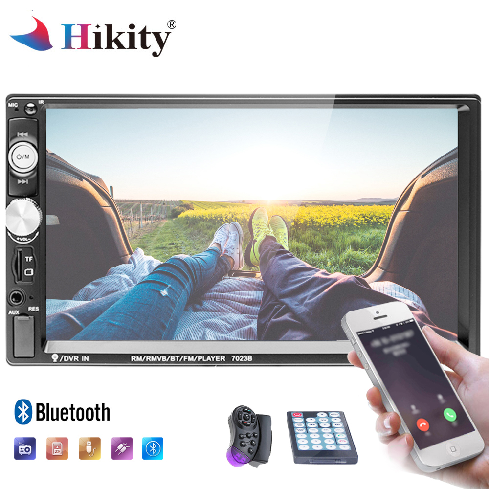 Hikity 2 din Car Multimedia player 7 HD Bluetooth Stereo Car Radio MP5/USB/FM Touch Screen Auto Radio Support Rear View Camera new 7 inch 2din bluetooth car radio video mp5 player auto radio fm 18 channel hd 1080p in dash remote control rear view camera