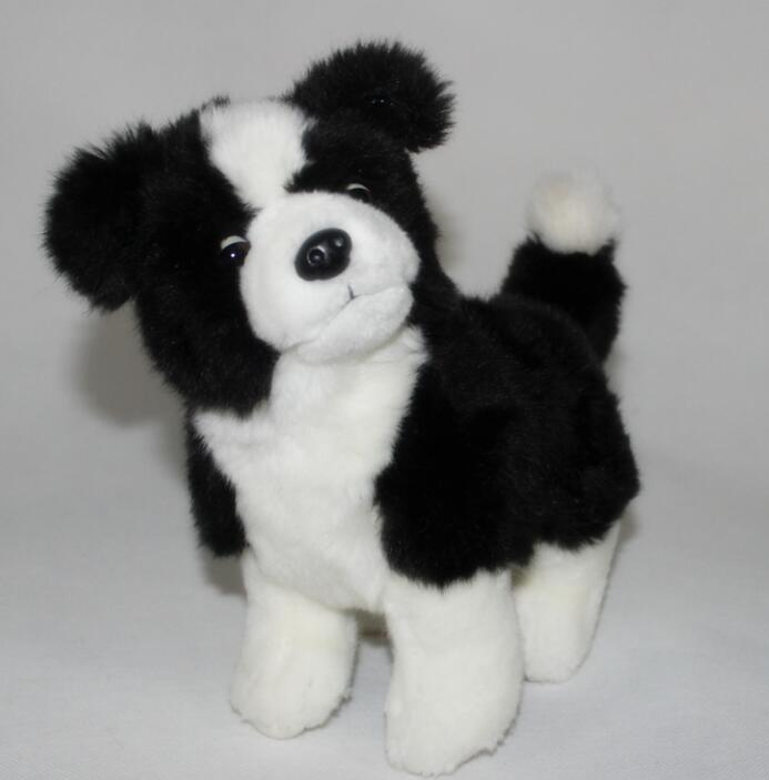 Stuffed  Children Toys  Simulation Plush Animals  Border Collie  Girlfriends Kid Gifts stuffed toys