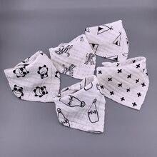 5 шт./лот, Musiln, хлопковые детские нагрудники, 4 слоя, для девочек и мальчиков, Babador, бандана, нагрудники, Bebe, треугольник, для кормления, отрыжка, ткань, Bebe, воротник, шарф