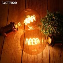 Латтусо Ретро лампа Эдисона E27 220V 4W мягкий спиральный светодиодный светильник накаливания G80 G95 G125 ампульная винтажная лампа