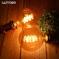 Ретро лампа Эдисона LATTUSO E27 220V 4W мягкая спиральная Светодиодная лампа накаливания G80 G95 G125 Ampoule винтажная лампа