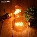 Lattuso retro edison lâmpada e27 220 v 4 w espiral macia led filamento lâmpada g80 g95 g125 ampola lâmpada do vintage