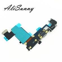 Зарядный гибкий кабель AliSunny, 10 шт., для iPhone 6s Plus, 5,5 дюйма, 6SP, USB док станция, зарядное устройство для наушников, аудио разъем, ремонтные детали