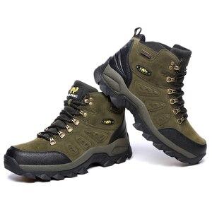 Image 4 - Bjakin 방수 남성 하이킹 신발 가을 겨울 등산 부츠 하이 탑 트레킹 사냥 신발 트레이너 고무 유니섹스