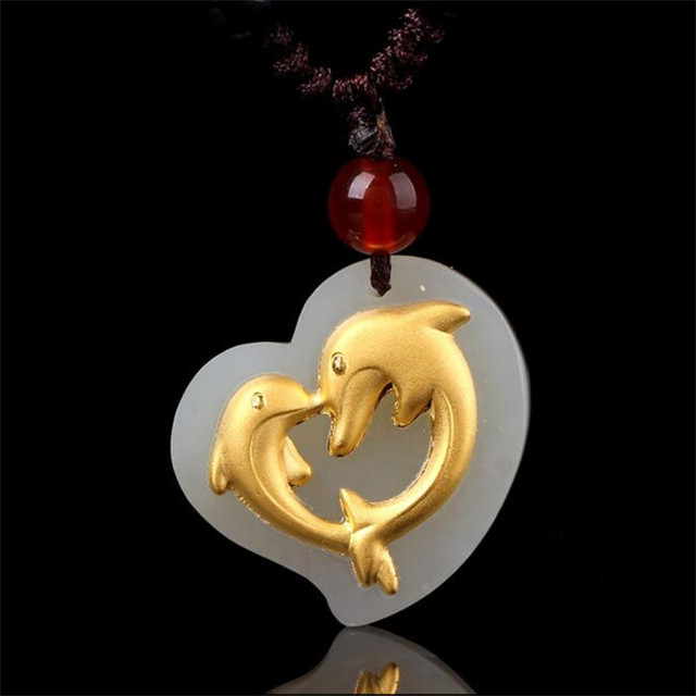 2018 TJP Hot Selling Love Gold Jade Pendant For Men Women Discount Good Quality Necklace Best Gift2018 TJP Hot Selling Love Gold Jade Pendant For Men Women Discount Good Quality Necklace Best Gift