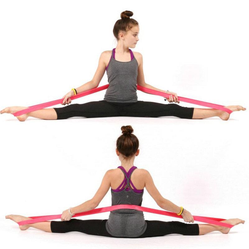 208cm Natural Latex Ballet Physio Resistance Bands Fitness Dance Loop Bodybuldin