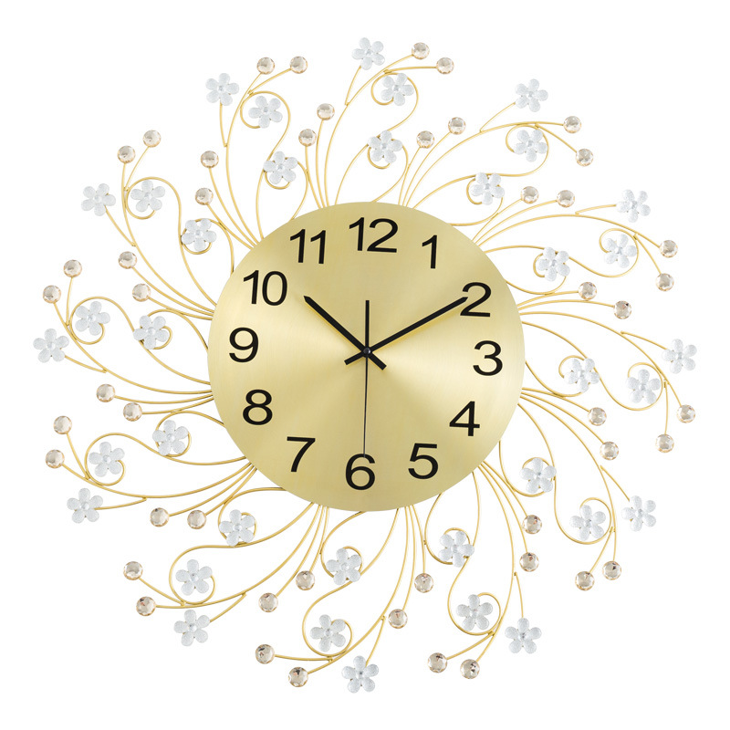 Europe Beautiful Simple Creative Wall Clock Modern Home Clock Living Room Mute Clock Fashion Decorative Quartz Clock Hot Sale