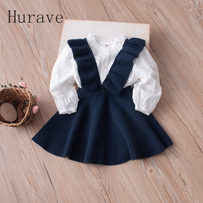 Hurave-Autumn-2017-girls-dress-girl-clothing-Knit-Sweater-Kids-for-girl-robe-fille-kids-clothing-beautiful-vestidos-2