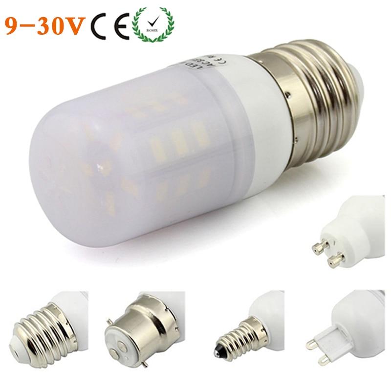 E27 E14 B22 LED Lamp Light GU10 G9 E12 E26 3W 12V 24V AC/D 27 Leds ...