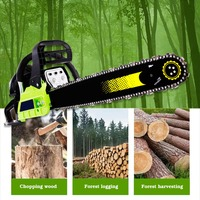 High Quality Gasoline Power Tools Powered Wood Cutting Automatic Return Hand Pull Start Cordless Chain Saw Gasoline Cutting Saw