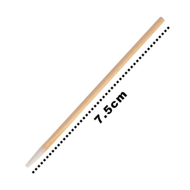 100Pcs/pack High-end Natural Eyelashes Micro Microbrush Brushes Top Cotton Disposable Individual Extension Makeup brush Swab 2