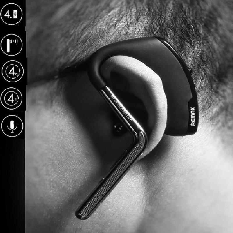 Remax Metal Noise Canceling Design Wireless HD Sound In-ear Bluetooth Headset for iPhone 5 6 6S Plus Samsung Galaxy More Android remax 2 in1 mini bluetooth 4 0 headphones usb car charger dock wireless car headset bluetooth earphone for iphone 7 6s android