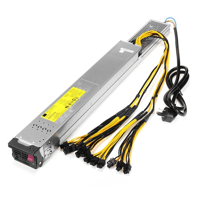 2450W Power Supply For Antminer S9 T9 S7 For L3 w Complete PCI e ...