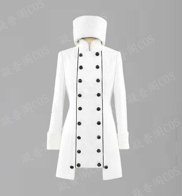 [Customize]Anime Fate/Zero Irisviel von Einzbern Cosplay Costumes White Longuette Jacket For Unisex Halloween/Christmas 2XS-3XL