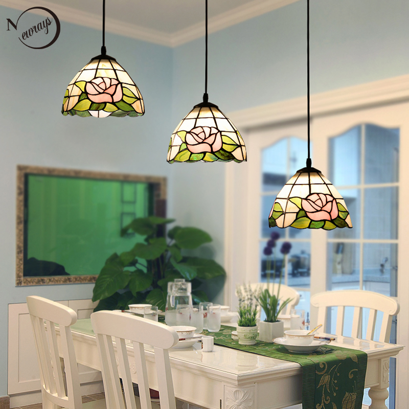 Modern loft pastoral glass pendant light LED E27 Nordic vintage hanging lamp for living room bedroom cafe hotel restaurant lobby