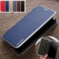 Portefeuille en cuir synthétique polyuréthane Carte Fente Mince Étui À Rabat Magnétique Pour iPhone XS Max XR 6S 7 8 Plus 11 Pro Max