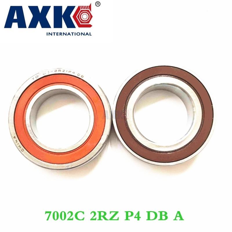 цена на Axk 1 Pair 7002 7002c 2rz P4 Db A 15x32x9 15x32x18 Sealed Angular Contact Bearings Speed Spindle Bearings Cnc Abec-7