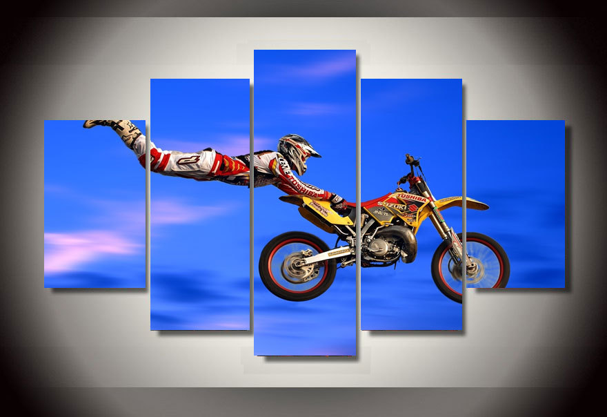 Framed Printed motocross jumps Group Painting wall art children s room decor  print poster picture canvas Free. Online Get Cheap Motocross Art  Aliexpress com   Alibaba Group