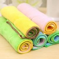 5pcs Microfiber Fiber Dish Cloth Washing Towel High Efficient Super Absorbent Magic Kitchen Cleaning Wiping Rag