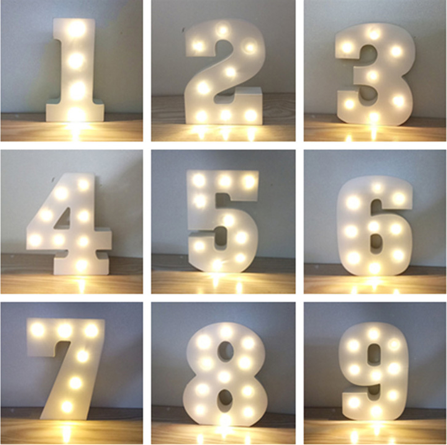 26 Letters Light Marquee Sign Holiday Wedding Birthday Party Decoration Lighting Indoor Home Club Decor Alphabet Led Night Lamp Colours Are Striking Lights & Lighting