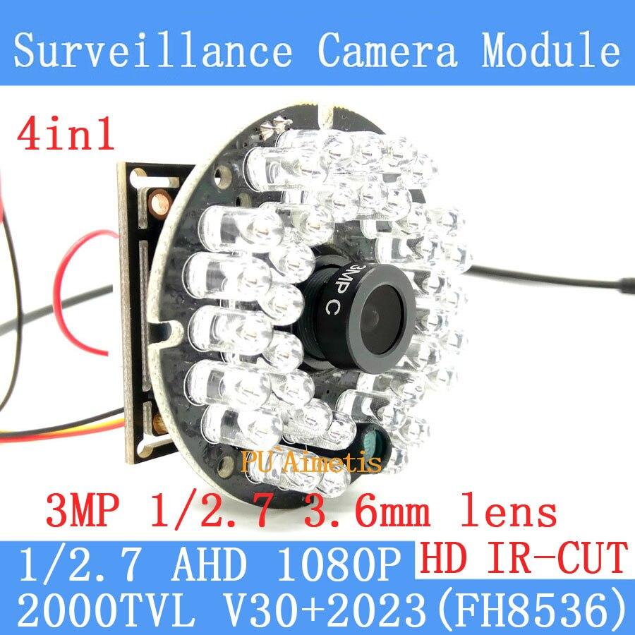 2000TVL 4in1 2MP 1920*1080 AHD CCTV Security Camera Module 3.6MM lens HD 30 lamp infrared Night Vision Surveillance