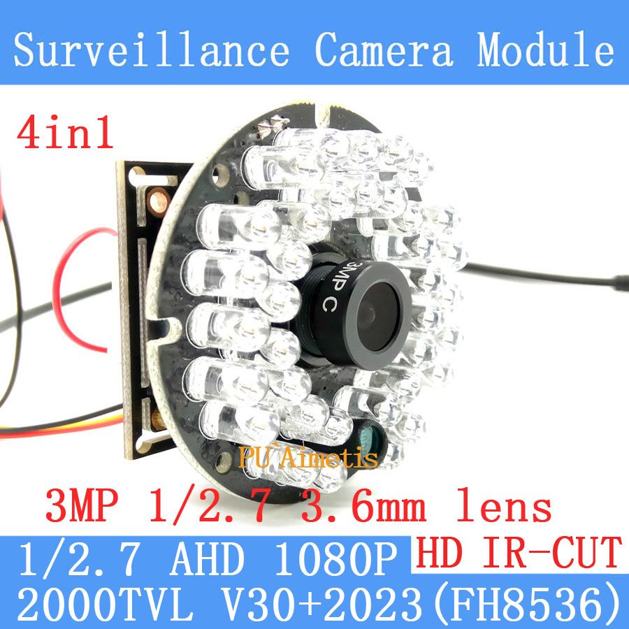 2000TVL 4in1 2MP 1920*1080 AHD CCTV Security Camera Module 3.6MM lens HD 30 lamp infrared Night Vision Surveillance