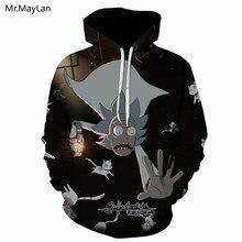 Cartoon Funny Ricky and Morty 3D Print Hipster Hoodies Men/Women Hiphop Pullovers Streetwear Hat Sweatshirt Coat Jacket Harajuku