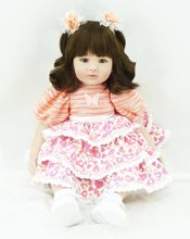 22 inch 55 cm Silicone baby reborn dolls, lifelike doll reborn babies toys Lovely dress doll