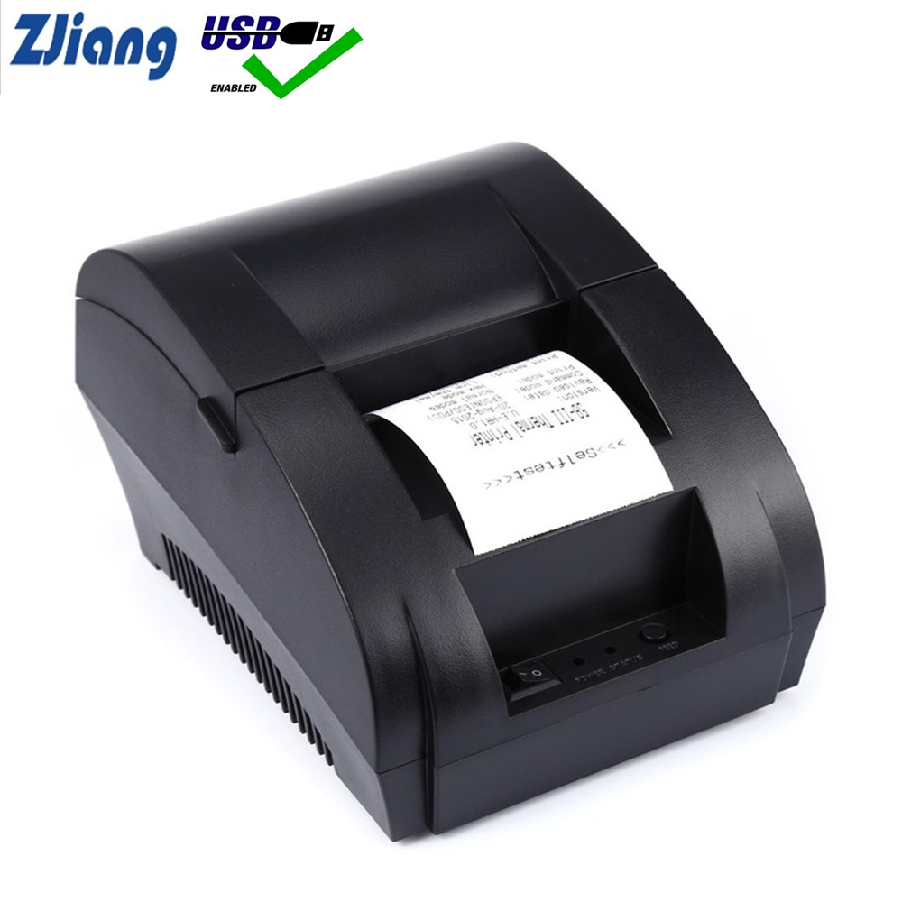 Zjiang Thermal Printer Mini 58mm USB POS Cheap Receipt Printer For Resaurant and Supermarket ZJ-5890K stm32 module stm32f407igt6 development board with usb hs fs ethernet nandflash jtag swd lcd usb to uart evk407i