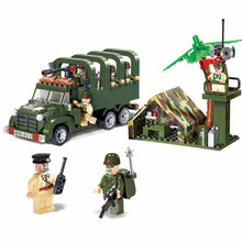 sermoido Military Troops Weapon Carrier Truck Model Building Block Toys Figure Gift For Children Compatible With Legoings 638pcs carrier vehicle transport truck model building block toys sluban 0339 figure gift for children compatible legoe