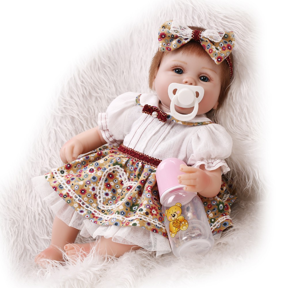 40cm Slicone reborn baby doll toy lifelike play house bedtime toys for kid girls brinquedos soft newborn babies collectable doll