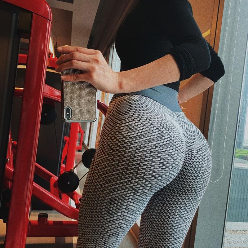 SVOKOR Women Leggings High Waist Dot Fitness leggins mujer High stretch sportswear ladies polyester casual Seamless Pants 2