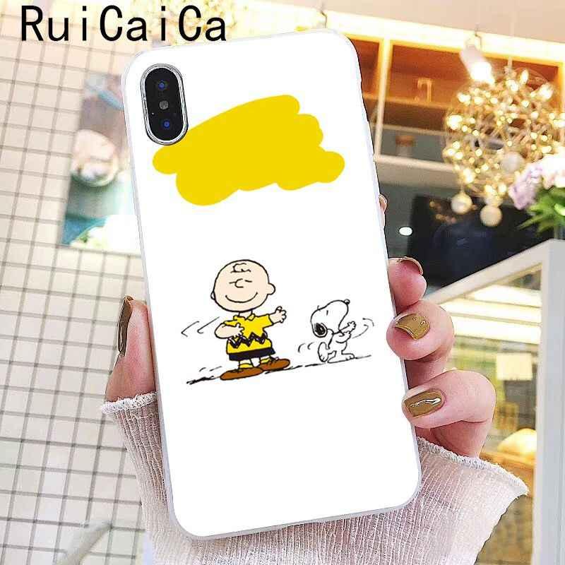 Ruicaica Hoạt Hình Chó bé trai bé gái Kawaii Dễ Thương May Mắn Ốp Lưng Điện Thoại cho Iphone X XS MAX 6 6 S 7 7 Plus 8 8 Plus 5 5S SE XR 10