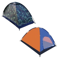 Hot 1/2/3 4/6 Person Camping Tent Single Layer Camping Equipment Waterproof Windproof Sunshade Outdoor Camping Accessories