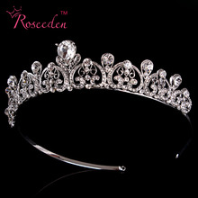 New Arrival  Rhinestone Crystal Tiara Crown Bridal Princess Stunning Wedding Accessories RE93
