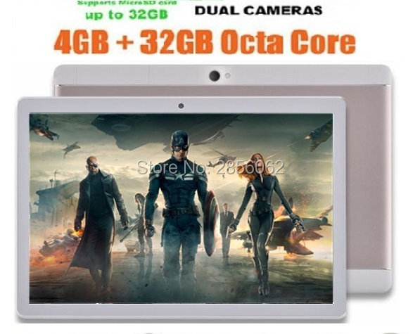 10 inch Octa Core 3G Phone Tablet PC MTK8752 1280*800 4GB RAM 64GB ROM Android 5.1 GPS Dual Camera Pad Tablet 10