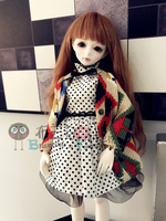 1/3,1/4,1/6 BJD dolls clothes toys Top Quality BJD doll sweater+skirt suit Ball Joint Doll Fashion Girl Gift doll accessories