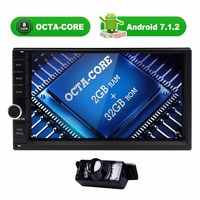 OctaCore 2 32G Android 7 1 2din Universal Car Radio No DVD GPS Navigation Player In